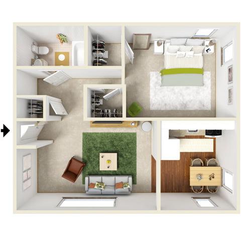 presidential estates one bedroom floor plan